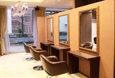 美容室ヴァンカウンシルセレクト長野駅前店仕上げブース